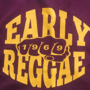 EARLY REGGAE 1969 T-SHIRT BURG & YELLOW
